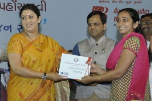 Smriti Irani at the Launch of Pradhan Mantri Jan Dhan Yojana in Surat