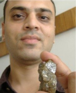 Kanubhai Asodaria with Diamond Ganesha.