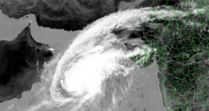 Satellite image of cyclone 'Nilofar' taken by INSAT
