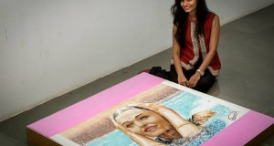 Shraddha With her creation