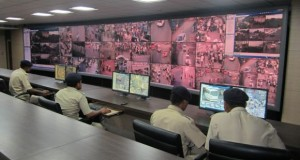Police keeping a watch on Video wall