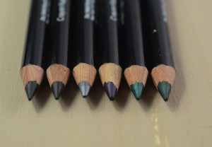 Variety of colourful Kajal pencils